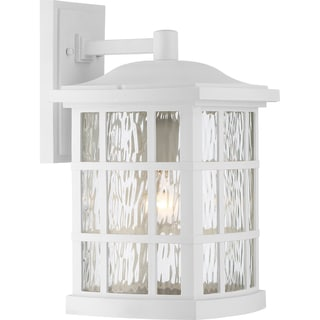 Nuvo Cove Neck 1 Light White Wall Sconce 14605664