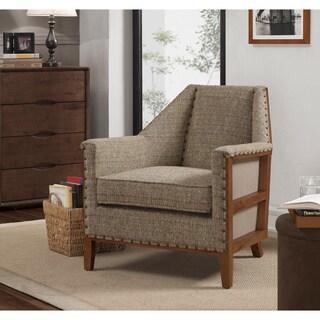 Zoli Mid Century Modern Design Grey Upholstered Accent