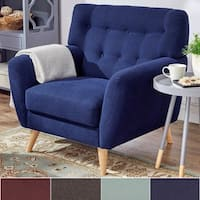 Niels Danish Modern Curved Tufted Upholstered Chair iNSPIRE Q Modern