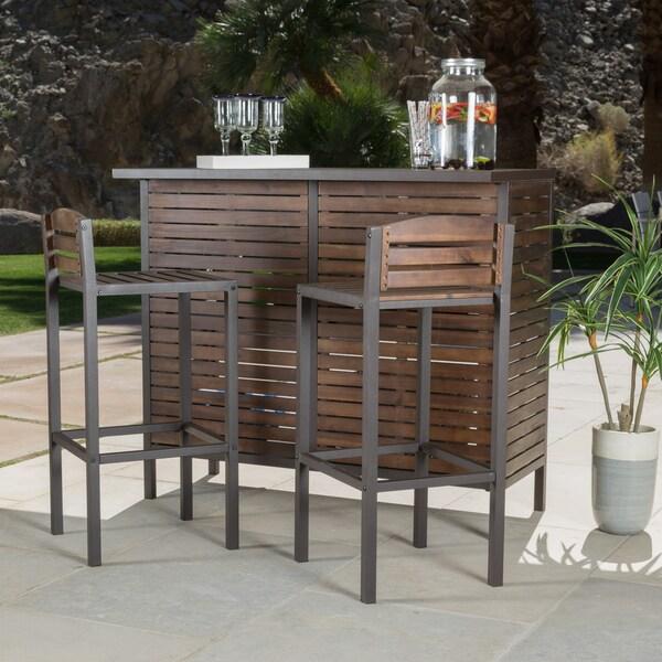 Overstock Bar: Christopher Knight Home Milos Outdoor 3-piece Acacia Wood