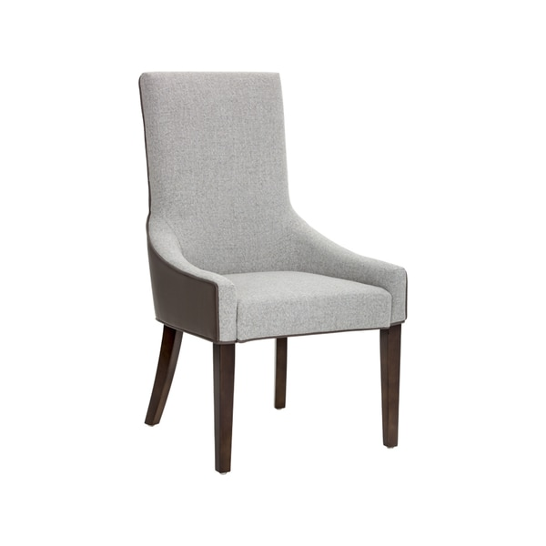 Sunpan Vincent Dining Chair Dove Grey Leather Marble