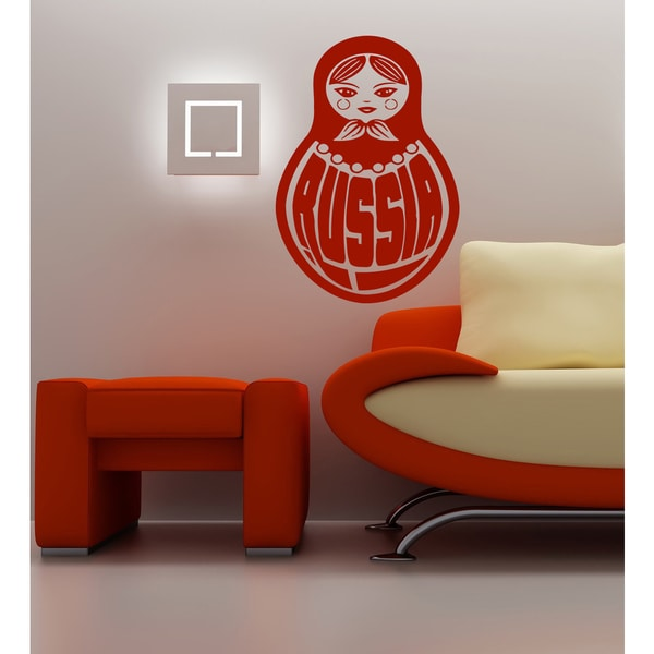 Russian nesting doll Wall Art Sticker Decal Red