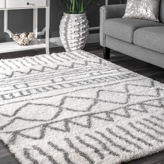 Nuloom Soft And Plush Cloudy Solid Shag Baby Pink Rug 4