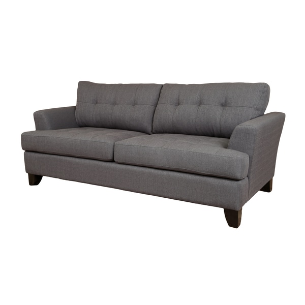Sofa Pillows Contemporary: Porter Norwich Contemporary Charcoal Grey Polyester Sofa