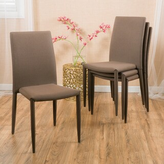 Christopher Knight Home Comstock Fabric Stackable Dining Chair (Set of 4)