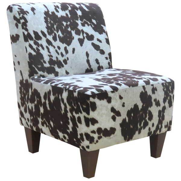 Beumont Cowhide Armless Accent Chair 18688265