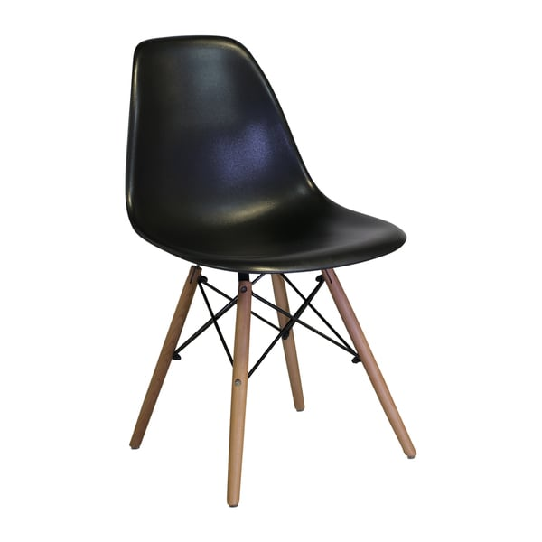 Eames Style Mid Century Modern Black Side Chair India