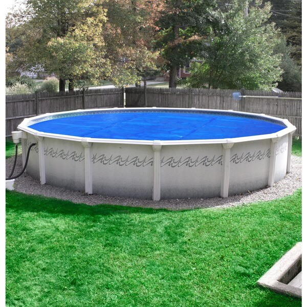Pool Mate Deluxe 5 Year Blue Silver Polypropylene Above