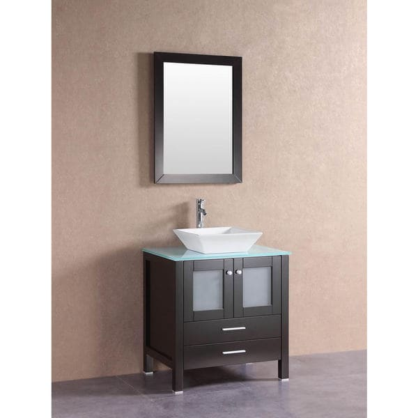 26 Best Over The Sink Images On Pinterest: Belvedere Modern Espresso 30-inch Bathroom Vanity With