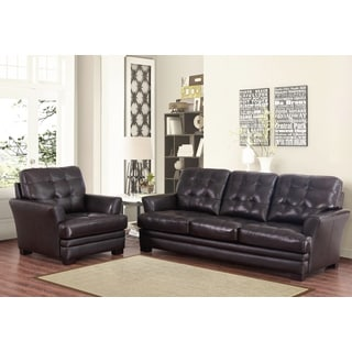 Fantastic Deals Abbyson Living Divani Top Grain Leather Sofa And Onthecornerstone Fun Painted Chair Ideas Images Onthecornerstoneorg