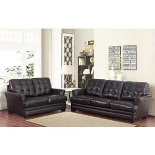 Tremendous 9Abbyson Living Divani Top Grain Leather Sofa And Loveseat Squirreltailoven Fun Painted Chair Ideas Images Squirreltailovenorg