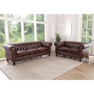 Angela Grey Fabric Modern Sofa And Loveseat Set 16609413