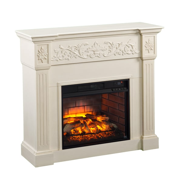 Upton Home Cameron Ivory Carved Infrared Electric