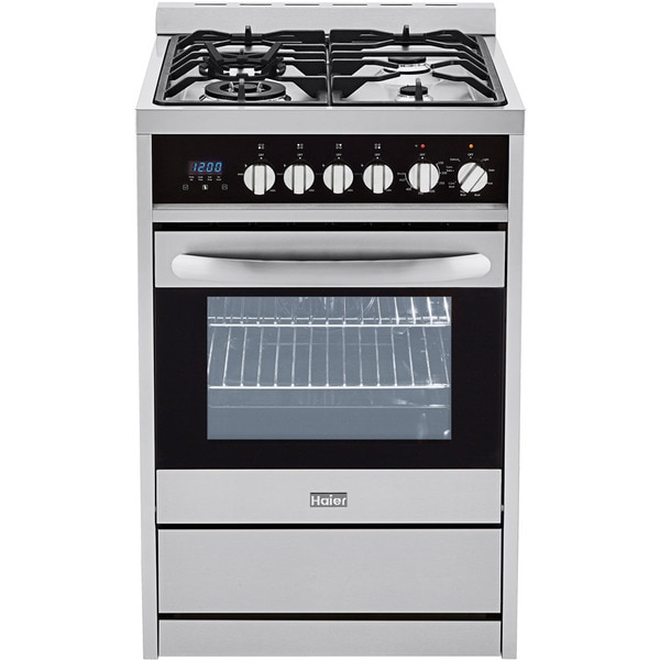 Haier Steel 24 Inch 2 0 Cu Ft Dual Fuel Range True Euro