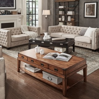 Signal Hills Edmaire Rustic Baluster 55 Inch Coffee Table