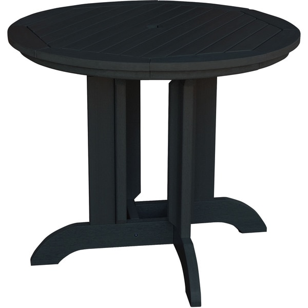 30 Inch Round Kitchen Table: Black Plastic Wood-finished 30-inch X 48-inch X 48-inch