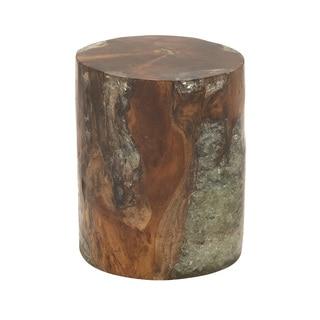 Teak Resin Metal Bar Stool 16 Quot W 30 Quot H 18735073