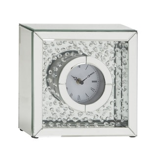 Staggered Group 3 Piece Black Mirror Clock 11572505