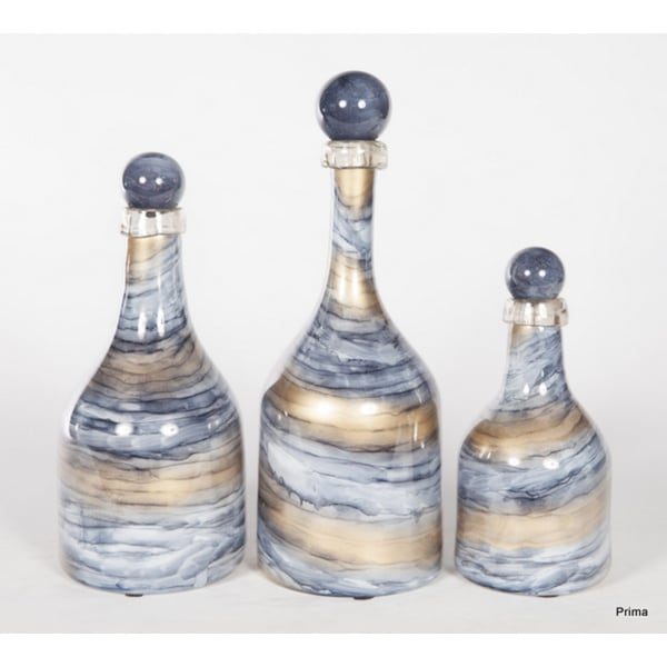 Set Of 3 Cheers Bottles With Tops image