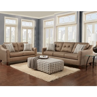 Rocky Mountain 3 Piece Golden Wheat Sectional Sofa Set