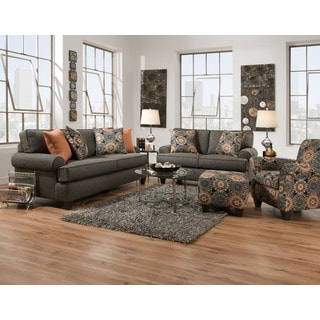 Fabric Sectional Sofa And Loveseat Set With Pillows