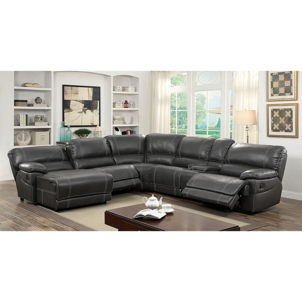 Furniture Of America Merson L Shaped Leatherette Reclining