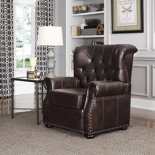 Joyce Bonded Leather Chair 14235177 Overstock Com