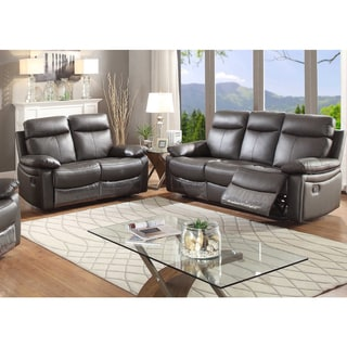 Ryker Leather Reclining Sofa And