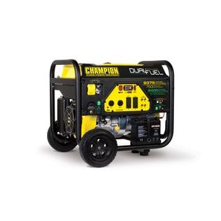 Champion Equipment Gasoline 6750 8400 Watt Lpg 9375 7500 Dual Fuel Electric Start Portable Generator Reviews Pings