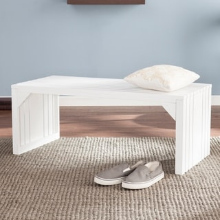 White Solid Wood Storage Shoe Bench And Shelf 15825201