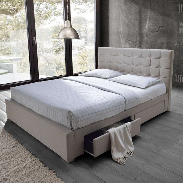 Baxton Studio Adonis Modern And Contemporary Beige Fabric