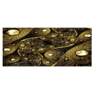 Harper Blvd Baxley 3 Piece Metallic Gold Metal Wall Panel