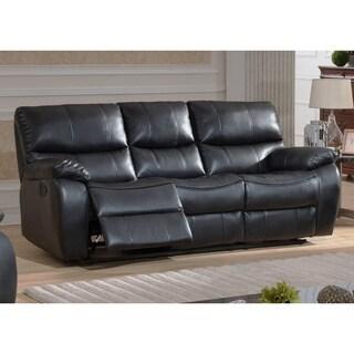 Furniture Of America Loffman Grey Bonded Leather Reclining