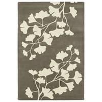 Hand-Tufted Seldon Grey Floral Shadow Rug - 8' x 10'