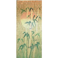 Orange Sun Bamboo Silhouette Bamboo Curtain (Vietnam)