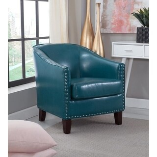 Mayfair 1378 01 Peacock Blue Faux Leather Winged Accent