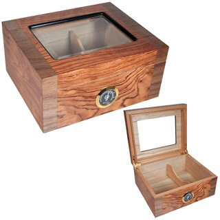 Cuban Crafters Deluxe Mio Glass-top Cigar Humidor