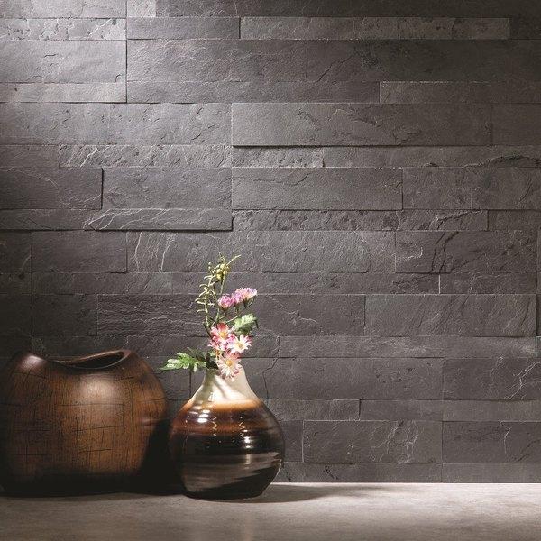 Aspect 6 X 24 Inch Charcoal Slate Peel And Stick Stone