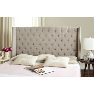 Elegant Taupe Queen Size Upholstered Headboard 16557332
