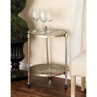 Vintage Copper Metal Accent Table 15894049 Overstock