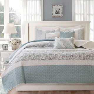 The Gray Barn Sleeping Hills 6-piece Blue Cotton Coverlet Set