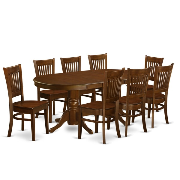 9 Piece Formal Dining Room Sets: VANC9-ESP 9-piece Dining Room Set For 8 Dining Table With