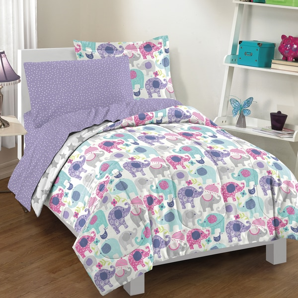 Elley Elephant 7 Piece Bed In A Bag With Sheet Set