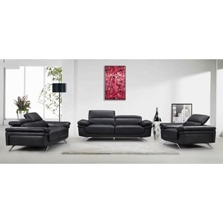 Strange 9Madison Black Fabric Faux Leather Wood Sofa Loveseat And Caraccident5 Cool Chair Designs And Ideas Caraccident5Info