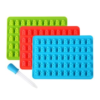 Born Baker Silicone Gummy Bear Molds with Dropper (Pack of 3)