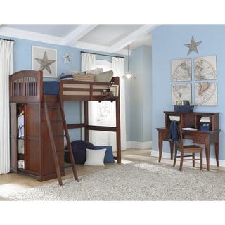 Highlands Collection Driftwood Full Size Loft Bed Dresser