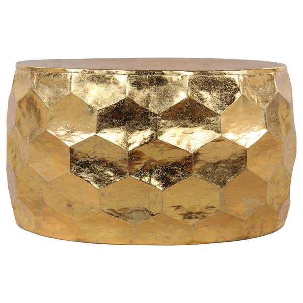 Gemoratic Hammered Gold Leaf Metal Coffee Table 18865156