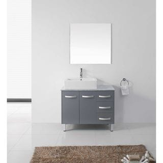 Virtu Usa Bailey 24 Inch Single Sink Bathroom Vanity Set