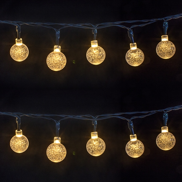 crystal ball bubble outdoor solar lights strings 30 led ...   Crystal Light Show String