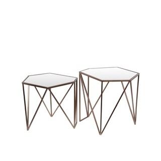 Quatrefoil Goldtone Metal And Glass Sofa Table 16478583